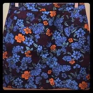 Ann Taylor loft skirt brocade . Size 6